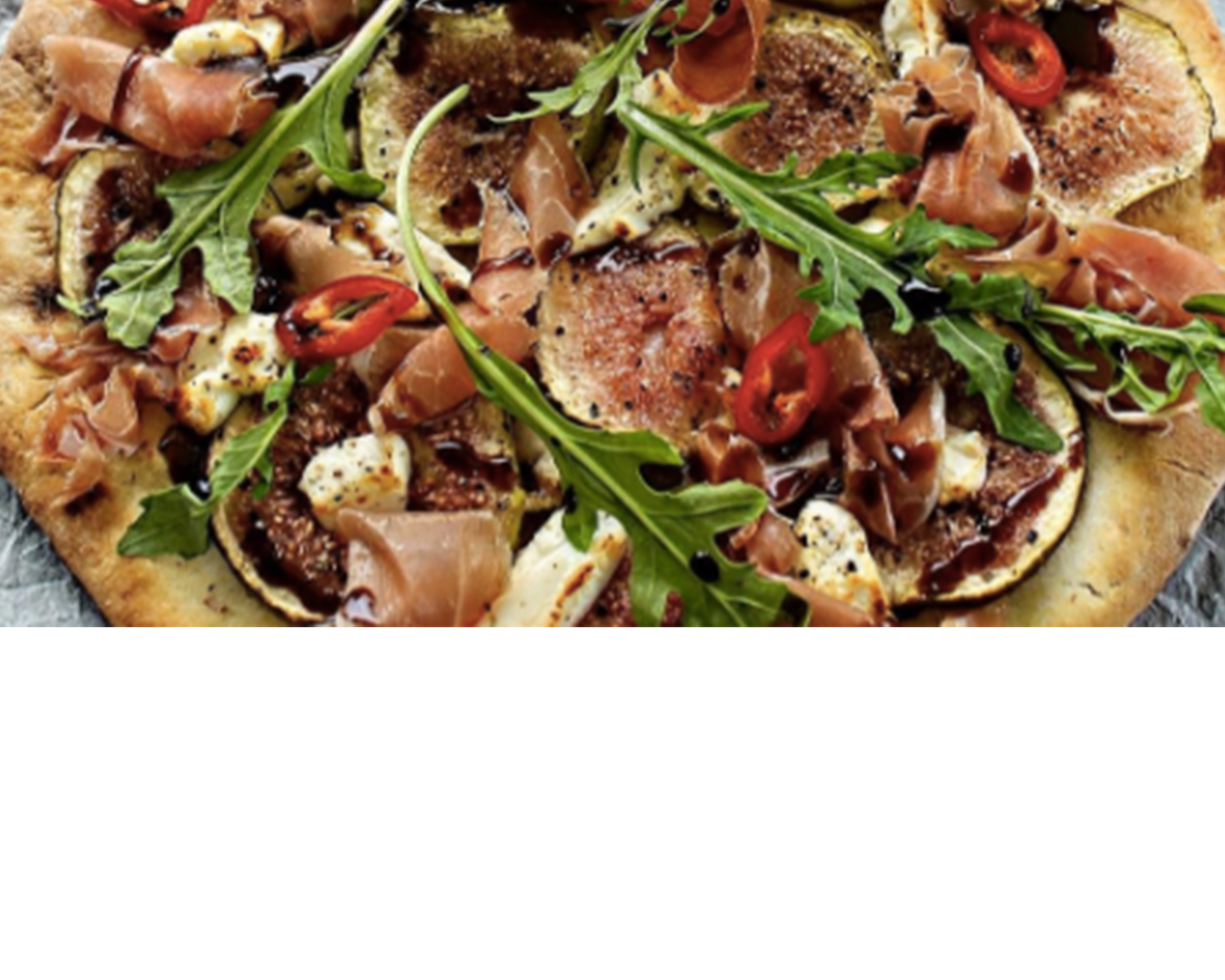 Prosciutto, figs and Goat cheese Gluten Free Pizza