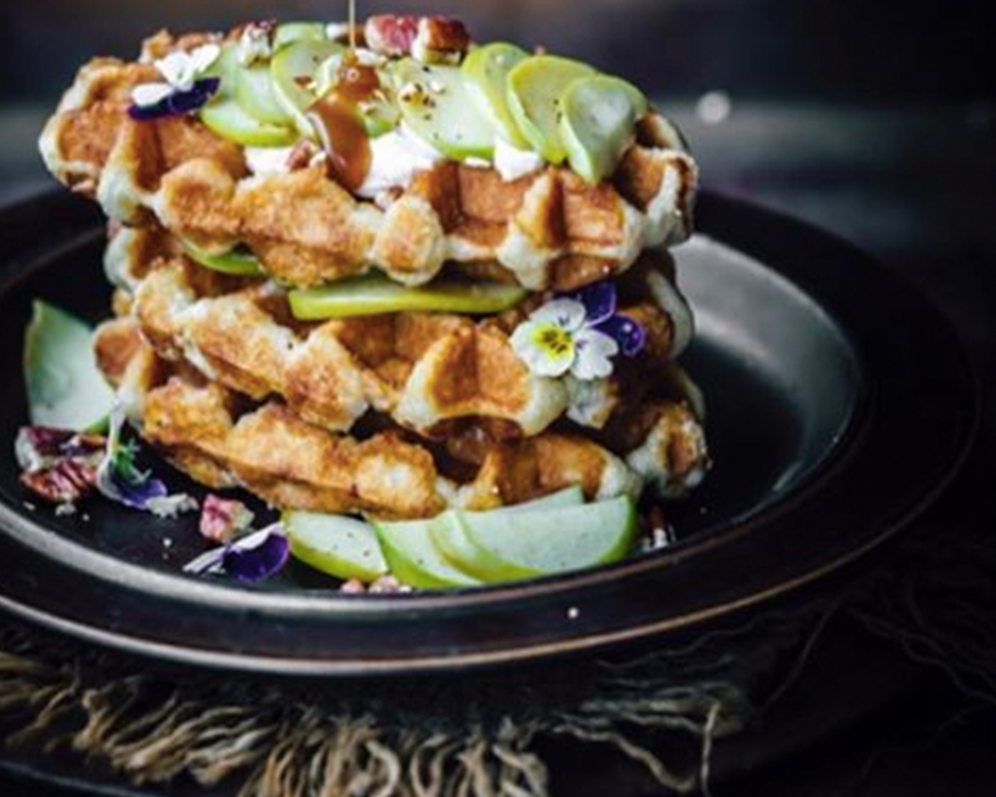 Toffee Apples Waffles